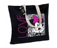 Холщовая сумка «Минни Маус. In Love», черная