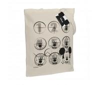 Холщовая сумка «Микки Маус. Icon Sketch», неокрашенная