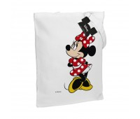 Холщовая сумка «Минни Маус. Jolly Girl», белая