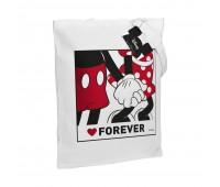 Холщовая сумка «Микки и Минни. Love Forever», белая
