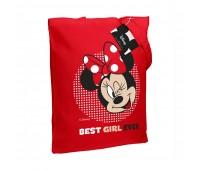 Холщовая сумка «Минни Маус. Best Girl Ever», красная