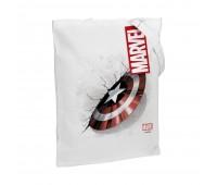 Холщовая сумка «Щит Капитана Америки», белая