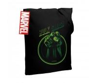 Холщовая сумка Hulk Smash, черная
