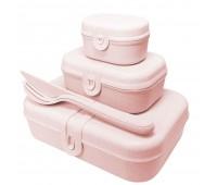 Набор ланчбоксов со столовыми приборами Pascal Organic, розовый
