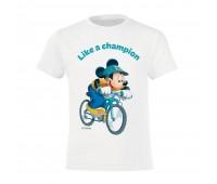 Футболка детская «Микки Маус. Like A Сhampion!», белая