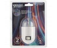 Проекционный светильник Gauss Disco, настенный, белый