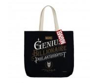 Холщовая сумка Tony Stark Genius, черная