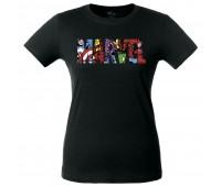 Футболка женская Marvel Avengers, черная