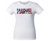 Футболка женская Marvel Avengers, белая