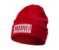 Шапка с вышивкой Marvel, красная