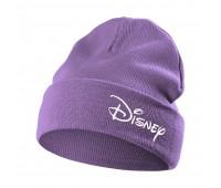 Шапка с вышивкой Disney, фиолетовая