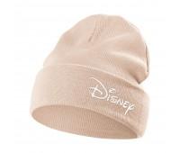 Шапка с вышивкой Disney, бежевая