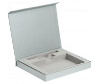 Коробка Memo Pad для блокнота, флешки и ручки, серебристая