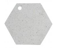 Доска сервировочная Elements Hexagonal, камень