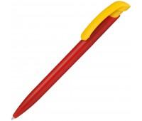 Ручка шариковая Clear Solid, красная с желтым