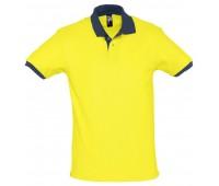 Рубашка поло Prince 190, желтая с темно-синим