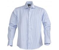 Рубашка мужская в клетку TRIBECA, голубая