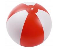 Надувной пляжный мяч Jumper, красный с белым