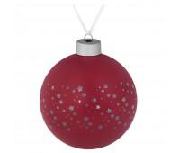 Елочный шар Stars, 10 см, красный