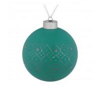 Елочный шар Chain, 10 см, зеленый