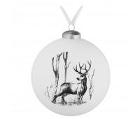 Елочный шар Forest, 10 см, с изображением оленя
