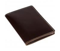 Обложка для автодокументов «Комфорт», темно-коричневая