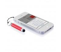 Брелок для ключей с ручкой-стилусом, красный