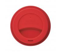 Стакан с крышкой PLA, 350 мл, красный