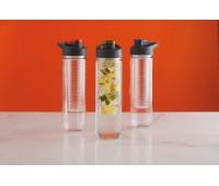 Бутылка для воды Tritan с контейнером для фруктов, 800 мл, оранжевый