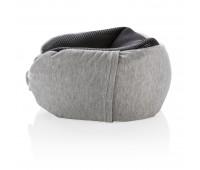 Подушка для путешествий Deluxe  с наполнителем Microbead, серый