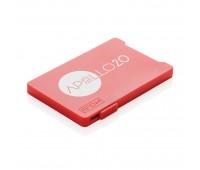 Держатель RFID для пяти карт, красный