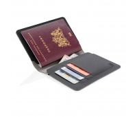 Обложка для паспорта Quebec с защитой от сканирования RFID, черный