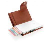 Кошелек с держателем для карт C-Secure RFID, коричневый